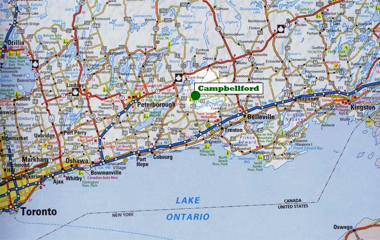 Lake Ontario on us Map Map of Southern Ontario